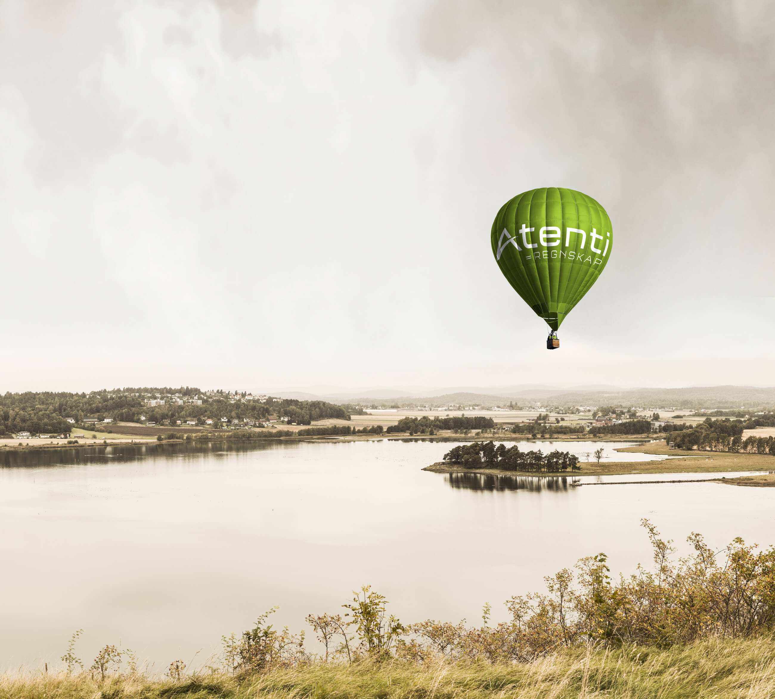 Atenti ballong over Revetal