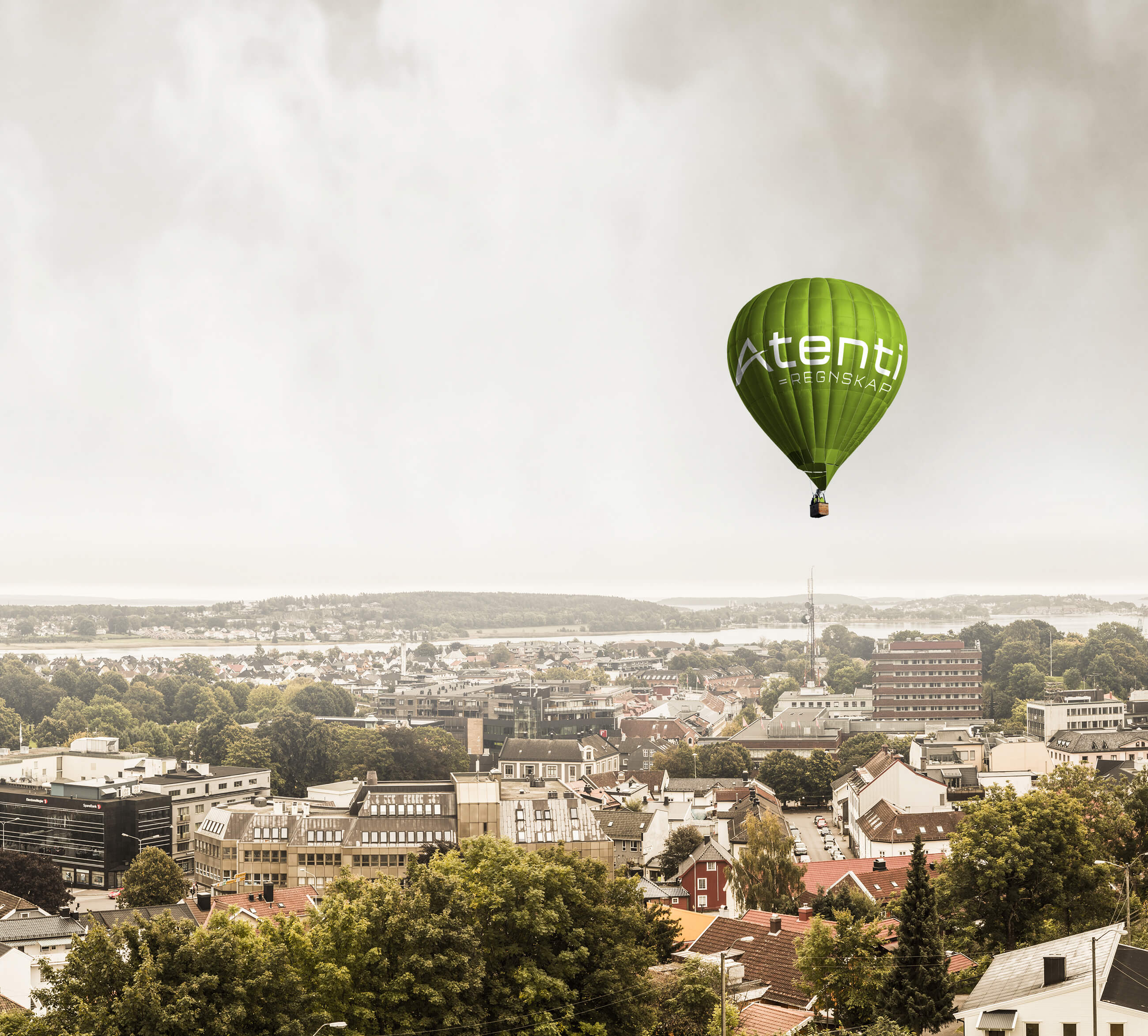 Atenti ballong over Tønsberg